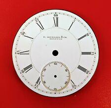 Antique L Size E. Howard & Co. Boston Pocket Watch Dial   Roman Numerals 22015