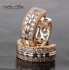 Creolen Kreolen Braut Ohrringe Hochzeit Zikonia Rose Gold 18K plt.