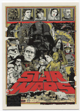 Tyler Stout Star Wars Topps Card Print mondo movie galaxy poster gold yellow red
