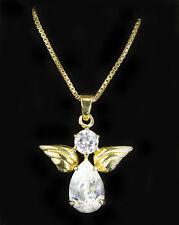CZ Angel Necklace - Vermeil Chain - Valentines Day