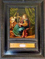 SAINT BRIGITTE. OIL ON COPPER. OLD FRAME. MARKETTED. ITALY - FLANDERS.XVII-XVIII
