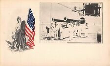 "USS MONITOR ""AMPHITRITE"" ~ DECK VIEW, WOMAN & FLAG, ROST PUB PMC c 1898-1902"