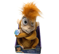 """Disney Aladdin Plush 9"""" Chatterback Abu Monkey Interactive Stuffed Animal Toy"""
