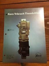 Kern Tribrach Theodolites Original Brochure Surveyor