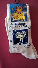 """Sternzeichen Widder 21.3.-20.4.,Gr.35-41,beige, Neu mit Etikett,""""Nur die"""" Socken"""