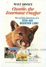 CHARLIE, THE LONESOME COUGAR Movie POSTER 27x40 Linda Wallace Jim Wilson Ron