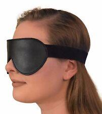 Genuine Leather Padded  Blindfold w/ Elastic Strap