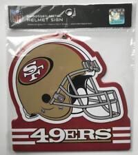 """(HCW) San Francisco 49ers NFL Embossed Heavy-Duty Metal Helmet Sign 8""""x8"""""""