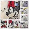 Personalised DISNEY WB Canvas Tote Bag - Winnie, Mickey, Simba, Minnie, Mermaid.