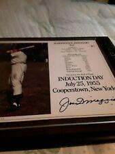 JOE DIMAGGIO LIMITED EDITION 148/1955 AUTOGRAPHED PLAQUE N.Y. YANKEES