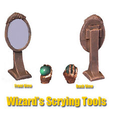 Armorcast Pewter ACID024 Wizards Scrying Tools, Mirror & Crystal Ball Frostgrave