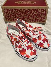 Vans Shoes Valentine Hearts Pattern sz 6 Womens NIB White Red Pink 4.0 Mens