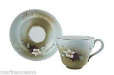 Antique Russian Unique Gadner Porcelain HUGE Cup Saucer