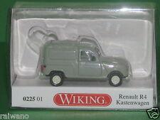 1:87 Wiking 022501 Renault R4 Kastenwagen - grau Blitzversand per DHL-Pake