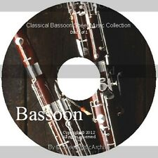 Huge Professional Bassoon Sheet Music Collection Archive Library on DVD