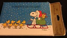 NEW Vintage (70's) Peanuts SNOOPY Woodstock Christmas Invitations 8 Total Cute