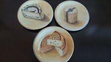 Williams-Sonoma Italian Ceramic Cheese Plates x3 Le Fromage,Dish Safe,Multicolor