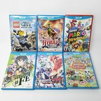 Nintendo Wii U Game Lot of six all Complete Case Disc Manual