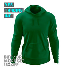 MENS WOMENS PLAIN PULLOVER HOODIE LIGHTWEIGHT HOODED SWEATSHIRT FLEECE PULLOVER
