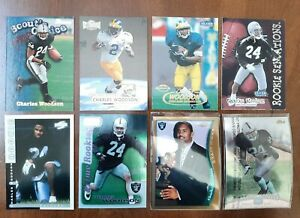 LOT OF 8 1998 CHARLES WOODSON ROOKIE CARDS RAIDERS PACKERS HOF DB TOPPS CHROME