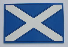 Scotland St Andrew's Cross flag Saltire Pvc patch with contact tape hook / loop