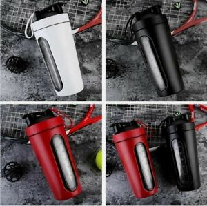 Stainless Steel 700ml Protein Mixed Blender Shaker Cup Bottle,Water Gym Sport