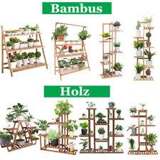 Holz Bambus Blumentreppe Pflanzentreppe Blumenleiter 3-11 Etagen Blumenständer