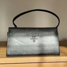 Black Leather PRADA Milano Handbag
