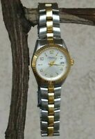 "Caravelle By Bulova Round Case 24mm Two Tone Watch New Battery 6.5"" Wrist"