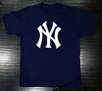 New York Yankees T-Shirt Graphic NY Cotton Men Adult Logo Jersey NYY