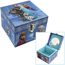 GIRLS CHILDRENS DISNEY FROZEN ANNA ELSA MUSICAL JEWELLERY + TRINKET KEEPSAKE BOX