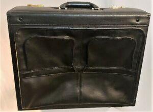 Heritage Travelware Rolling Dual Combination Catalog Case Wheeled Black