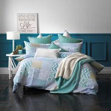 Bianca Emmerson Blue Patchwork Super King Size Bed Doona Quilt Cover Set