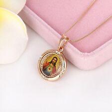 Jesus cross Pendant 18k Yellow Gold Filled Necklace Women Jewelry Free Shipping