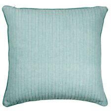 Hamptons Style Una Aqua 40x40cm Pom Pom Edge Cushion Cover RRP $ 27.95