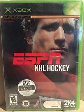 ESPN NHL Hockey (Microsoft Xbox, 2003) Original Factory Sealed