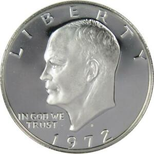 1972 S Eisenhower Dollar Choice Proof 40% Silver IKE $1 US Coin Collectible