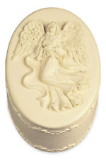 Angel Small Oval Memory Keepsake Trinket Jewelry Box Guardian Small #as46761