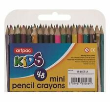 New 48 x Mini Colouring Pencils Childrens School Kids Art Craft Fun Crayon UK