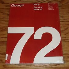 1972 Dodge Body Service Shop Manual 72 Challenger Charger Dart Coronet