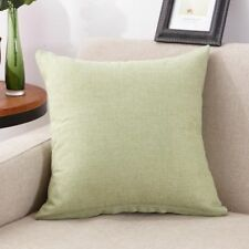 Linen Cotton Solid Throw Pillow Cover Home Office Sofa Case Cushion Gift Decor