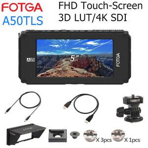 "Fotga A50TLS 5"" DSLR Filed Monitor FHD IPS Touch-Screen LUT 3G SDI 4K HDMI input"
