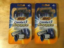 Bic Comfort 3 Advance 3-Blade Razors Men - (2) Packs Of 4