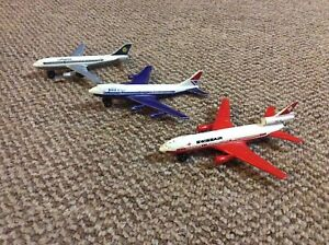 Matchbox Metal Diecast Airliners x3