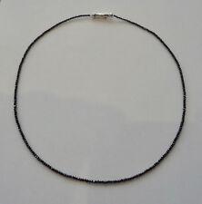 Schwarzes Diamantcollier (Kette)17,8 carat 585 erWeißgoldschnappverschluss 44 cm