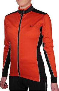 Piu Miglia Soft Shell Womens Cycle Jacket Red Fleece Lined Winter Cycling