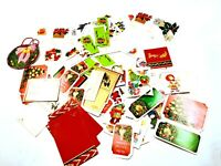 Lot of Assorted Vintage 1960s 1970s 1980s Christmas Holiday Gift Tags & Stickers