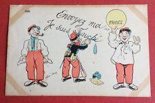 CPA. Illustrateur Xavier SAGER. Je suis Fauché. Francs. Humour. Militaires.