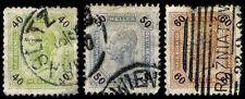 1899 Austria #80-82 Numerals In Black - Heller - Used - Vf - $11.30 (Esp#2223)