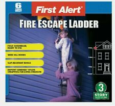 First Alert  24 ft. H Steel  Fire Escape Ladder  350 lb. capacity